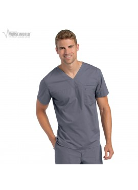 Landau Men's Pre-Washed V-Neck - 7478