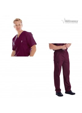 Landau Men's Vented Scrub Top Cargo Pant Set - 7594/8555