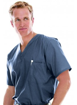 Landau Men's Vented Scrub Top - 7594