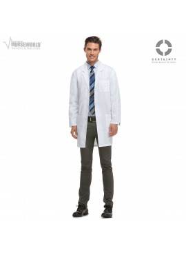 "Dickies 37"" Unisex Antimicrobial Lab Coat - 83402A"