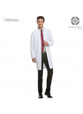 "Dickies 40"" Unisex Antimicrobial with Fluid Barrier Lab Coat - 83403AB"