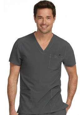 Med Couture Activate Men's 4 Pocket V-neck Scrub Top- 8528