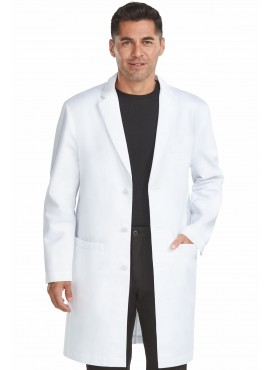 "Med Couture Men's Boutique White Tailored 38"" Lab Coat -9680"