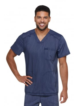 Dickies Advance Two Tone Twist Men's V-Neck Scrub Top - DK695