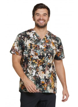 Dickies Prints Men's Great Outdoors V-Neck Print Scrub Top- DK725