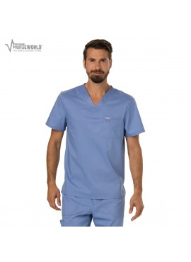 Cherokee Workwear Men's Revolution Stretch V-Neck Scrub Top - WW690