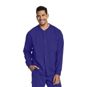 Gray's Anatomy Men's Warm Up Scrub Jacket with Raglan Sleeve and 5 Pockets- 0406