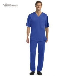 Grey's Anatomy Men's 3 Pocket Top/6 Pocket Cargo Pant Set - 0103/0203