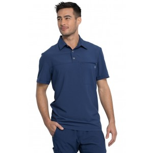 Cherokee Infinity Men's Polo Antimicrobial Scrub Top- CK825A