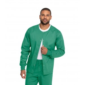 Genuine Dickies Industrial Laundry Durable Unisex Snap Front Warm Up Scrub Jacket- GD300