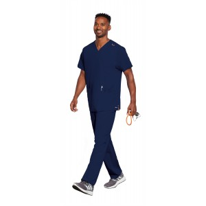 Motion by Barco Men's Stretch Jake 9 Pocket Scrub Set- MOT019/MOP016