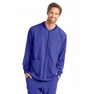 Skechers Men's Structure Zip Front Multi Pocket Warm Up Scrub Jacket- SK0408
