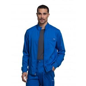 Cherokee Workwear Revolution Men's Front Zip Up Warm Up Scrub Jacket- WW320
