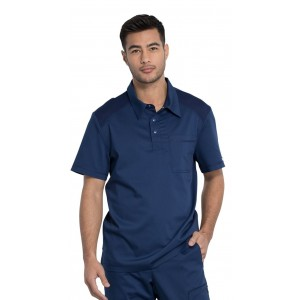 Cherokee Workwear Revolution Men's Polo Scrub Shirt- WW615