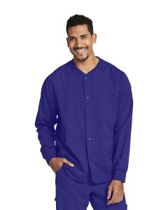 Grey's Anatomy Men's Warm Up Scrub Jacket with Raglan Sleeve and 5 Pockets- 0406