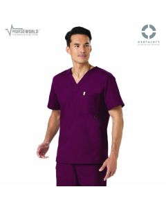 Code Happy Men's Antimicrobial Bliss V-Neck Top with Certainty - 16600A