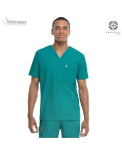 Code Happy Men's Antimicrobial with Fluid Barrier Bliss V-Neck Top feat. Certainty Plus - 16600AB