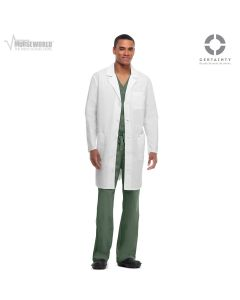 "Code Happy Unisex Antimicrobial 38"" Lab Coat - 36400A"