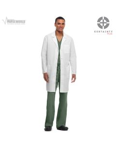"Code Happy Unisex Antimicrobial with Fluid Barrier 38"" Lab Coat - 36400AB"