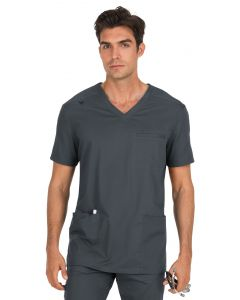 Koi Stretch Men's Tyler Multi Pocket V-neck Scrub Top-665