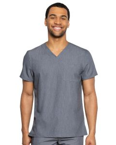 RotheWear by Med Couture Cadence One Pocket Stretch Scrub Top for Men - 7478