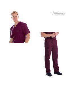 Landau Men's Vented Scrub Top Cargo Pant Set - 7594/8555