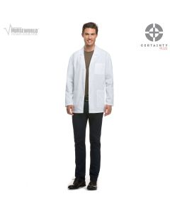 """Dickies Men's 31"""" Consultation Antimicrobial with Fluid Barrier Lab Coat - 81404AB"""
