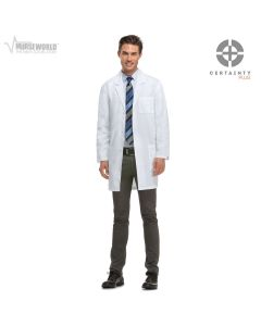 """Dickies 37"""" Unisex Antimicrobial with Fluid Barrier Lab Coat - 83402AB"""