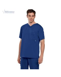 Grey's Anatomy Men's Modern Fit  High V-Neck 3 Pocket Top - 0107
