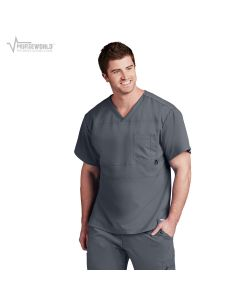 Grey's Anatomy Active Men's Panel Pieced Scrub Top - B116