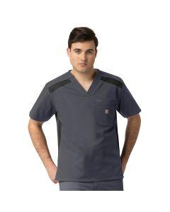 Carhartt Ripstop Rugged Flex Men's Color Block 6 Pocket Scrub Top - C15418