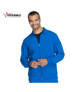 Cherokee Men's Infinity Antimicrobial Athletic Fit Scrub Jacket - CK305