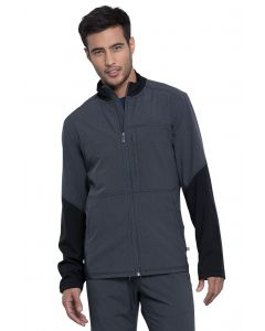 Cherokee Infinity Men's Color Block Front Zip Antimicrobial Scrub Jacket-CK314A