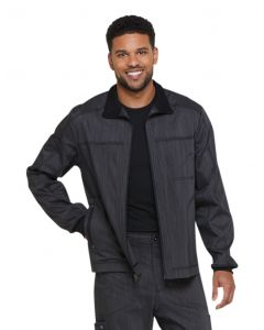 Dickies Advance Two Tone Twist Men's Zip Front Scrub Jacket - DK315