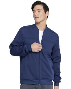 Dickies Balance Men's Zip Front Crew Neck Scrub Bomber Jacket – DK370