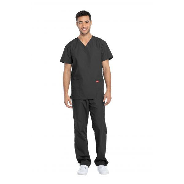 Dickies Unisex Two Pocket Top and Drawstring Pant Scrubs Set- DKP520C