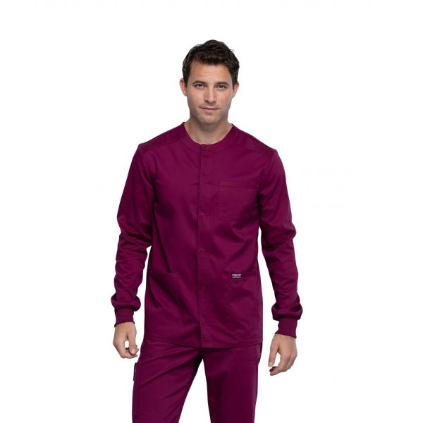 Cherokee Workwear Revolution Men's Snap front Warm Up Scrub Jacket – WW380