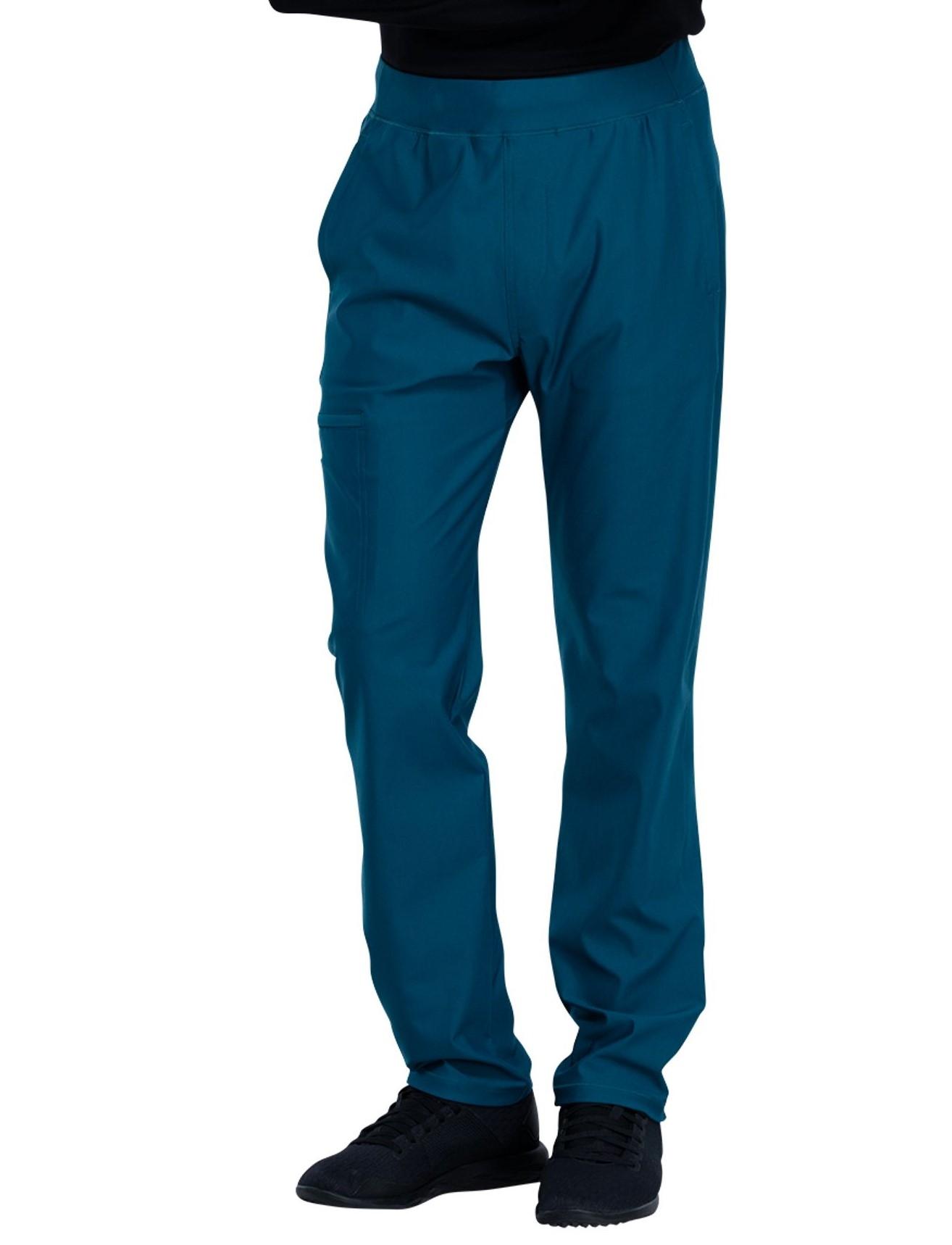 Cherokee Form Men's Ultra Stretch Pull on Cargo Scrub Pants- CK185